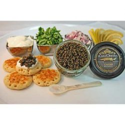 Plaza Golden Osetra Farmed Bulgarian Sturgeon Caviar 2 oz Gift Set
