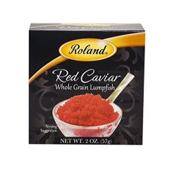 Roland Caviar Whole Grain Lumpfish, Red, 2 Ounce (Pack of 2)