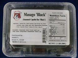 Capelin Roe Black, Masago, Wild, Frozen, Sushi Caviar – 1 lb