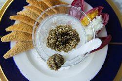 GUARANTEED FRESH! Imperial Osetra Caviar – Golden Large Pearls 000 – Malossol 1 Oz + ...