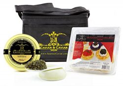 GUARANTEED OVERNIGHT! Imperialist Caviar Set – 1oz Imperial Golden Osetra + FREE Mother of ...