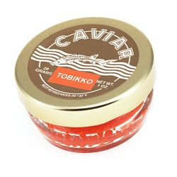 Masago, Capelin Roe Orange Sushi Caviar – 1 Ounce