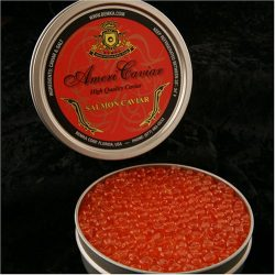 Salmon Caviar 4 oz – Ikura American Keta Sushi Grade