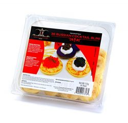 4 packages – Caviarmerchant.com Imported Russian Blini Soft Canape 36 Pcs