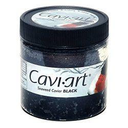 Caviart Award-winning VEGAN Caviar – Black Seaweed Flavor 3.5 oz (Black Caviart)