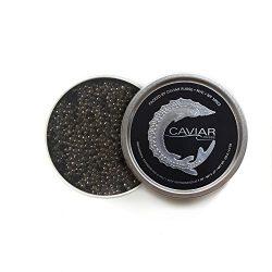 Caviar Russe Siberian Sturgeon Caviar, Imported Caviar, 4.4 oz (Acipenser Baerii)