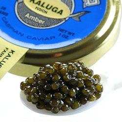 Kaluga Hybrid Amber Caviar, Huso Dauricus, River Beluga – 5.5 Oz