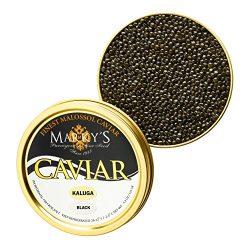 Kaluga Hybrid Black Caviar, Huso Dauricus, River Beluga – 1.75 Oz