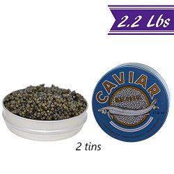 OVERNIGHTED Kaluga Sturgeon Amber Caviar, Huso Dauricus, River Beluga, 2.2 Lbs / 1 kg Commercial ...