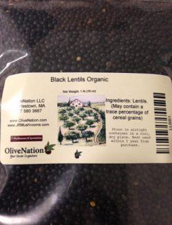 Organic Black Lentils 12 oz by OliveNation