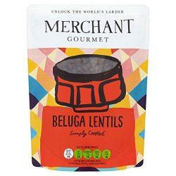 Merchant Gourmet Ready to Eat Beluga Lentils – 250g (0.55lbs)