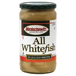 Manischewitz Whitefish in Jelled Broth – Kosher – Case of 12 – 24 oz.