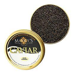 Marky's Farmed California Osetra Caviar, Transmontanus White Sturgeon from USA – 8 oz