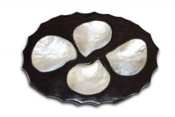 """Caviar Serving Palette, Superior Quality Mother of Pearl – 6""""D (FREE Spoon)"""