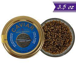 Russian Ossetra Sturgeon Caviar, Acipenser Gueldenstaedtii, 3.5 oz / 100 gm Jar plus Mother of P ...