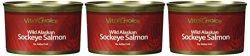 Wild Alaskan Sockeye Salmon 7.5 Oz – No Salt Added (3 Cans)