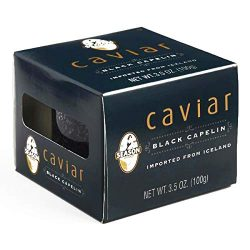 Season Black Capelin Caviar 4 Pack 3.5 oz each (3 Items Per Order, not per case)