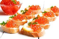 """Salmon Caviar – RED CAVIAR – Grade """"A"""" Quality – 2.2-lb (1-kg)"""