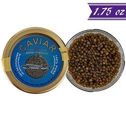 Russian Ossetra Sturgeon Caviar, Acipenser Gueldenstaedtii, 1.75 oz / 50 gm Jar plus Mother of P ...