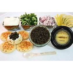 Plaza Osetra Farmed Bulgarian Sturgeon Caviar 2 oz Gift Set