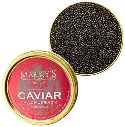 Marky's Hackleback Caviar Black American Sturgeon – 9 oz
