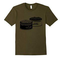 Mens Russian Caviar T-Shirt Sturgeon Beluga Food Foodie Tee XL Olive