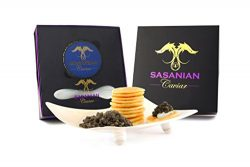 GUARANTEED OVERNIGHT! 1oz Royal Imported Osetra GIFT BOX + FREE Mother of Pearl Spoon & Blini