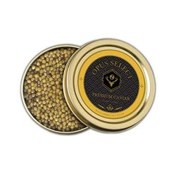 Opus Select Golden Osetra Caviar, Medium Sized Grain, Yellow to Amber Color, USA Raised and Sust ...