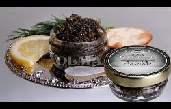 OLMA Black Kaluga Royal Caviar 1 oz (28g) Glass Jar