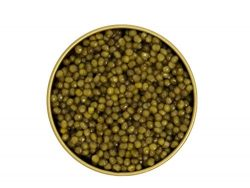 Beluga Kaluga Hybrid Caviar- Includes 8 French Blini and Pearl Spoon 3.5 Ounces