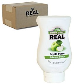 Crisp Apple Reàl, Apple Puree Infused Syrup, 16.9 FL OZ Squeezable Bottle (Pack of 1)