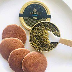 Beluga Kaluga Hybrid Caviar- Includes 8 French Blini and Pearl Spoon 4 Ounces