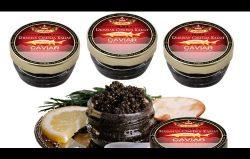 (COMBO OF FOUR) OLMA Black Caviar Russian Osetra KARAT 1 oz (28g) Glass Jar