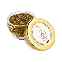 Fresh Farmed Osetra Russian Karat Caviar, Pure Gold – 1 oz