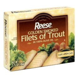 Reese Golden Smoked Fillet of Trout, 3.75 Ounce – 10 per case.