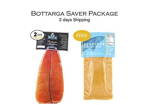 Bottarga Rocca – Saver Package – 2x Bottarga Rocca 3.6 ~ 4.5 oz + BONUS Poseidon Gra ...