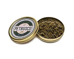 PETRUSCO River Beluga Caviar – Fresh Hybrid Beluga Sturgeon Caviar Black – Superfood ...