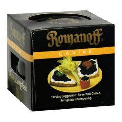 Romanoff Caviar Black Lumpfish, 2 Ounce Jar by Romanoff