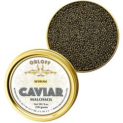 ORLOFF Sevruga Sturgeon Caviar – 9 Ounce – Freshness GUARANTEED Overnight Delivery