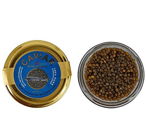 Premium Ossetra Sturgeon Amber Caviar Huso Dauricus River Beluga 1 oz – 28 gr Jar w/Mother ...