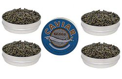 Set of Kaluga and Ossetra Sturgeon Amber Caviars 2.2 lb / 1 kg each BONUS 1 Can of 8.8 oz – ...