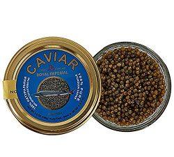 Premium Ossetra Sturgeon Amber Caviar Huso Dauricus River Beluga 3.5 oz – 100 gr Jar w/Mot ...