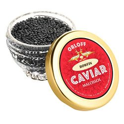 ORLOFF Bowfin American Caviar – 1 Ounce – Freshness GUARANTEED Overnight Delivery