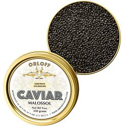 ORLOFF Seberian Osetra Caviar – 3.5 Ounce – Freshness GUARANTEED Overnight Delivery