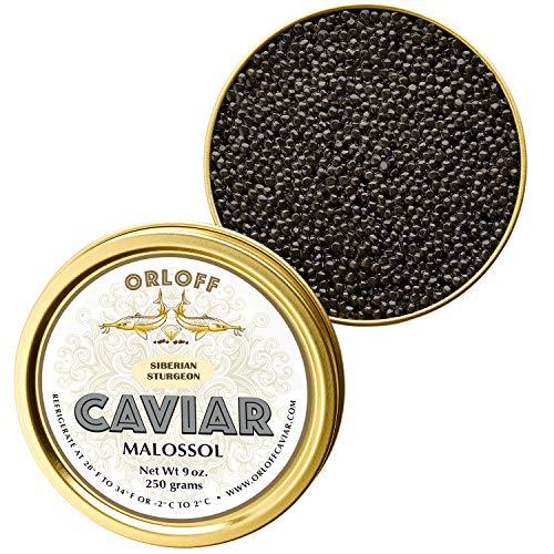 ORLOFF Seberian Osetra Caviar – 9 Ounce – Freshness GUARANTEED Overnight Delivery