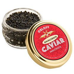 ORLOFF Hackleback American Caviar – 3.5 Ounce – Freshness GUARANTEED Overnight Delivery