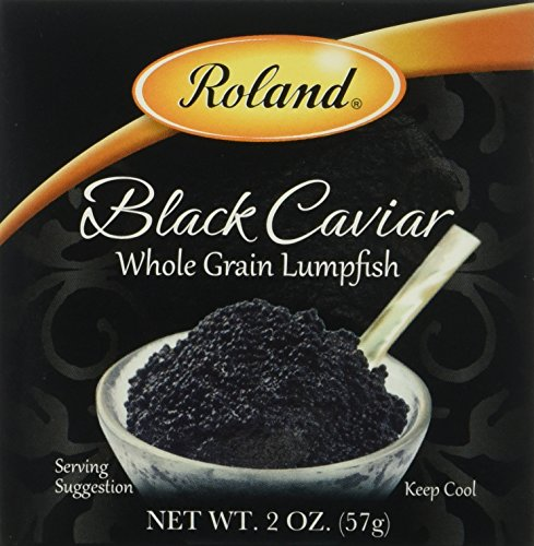 Roland Black Lumpfish Caviar, 2-Ounce Jars (Pack of 6)