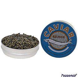 Premium Ossetra Sturgeon Amber Caviar Huso Dauricus River Beluga 17.6 oz – 500 gr Can w/Mo ...