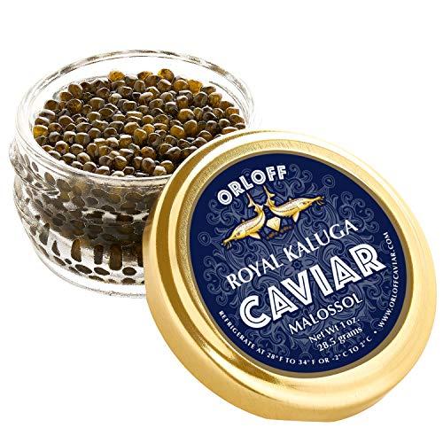 ORLOFF Kaluga Royal Caviar – 1 Ounce – Freshness GUARANTEED Overnight Delivery
