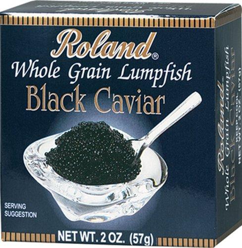 Roland Black Whole Grain  Lumpfish Caviar, 2-Ounce (Pack of 4)